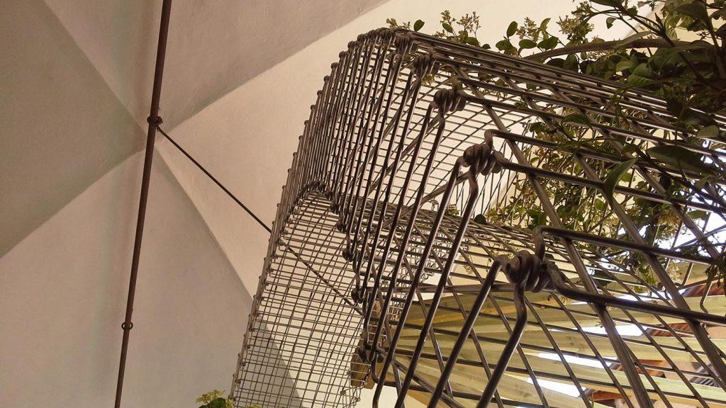 Arco in acciaio con piante