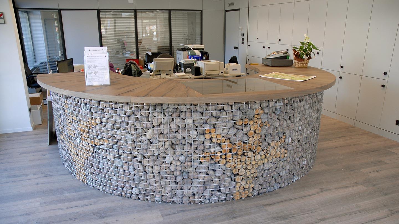 Arredo ufficio e negozio zanettin s r l for Bancone reception ufficio