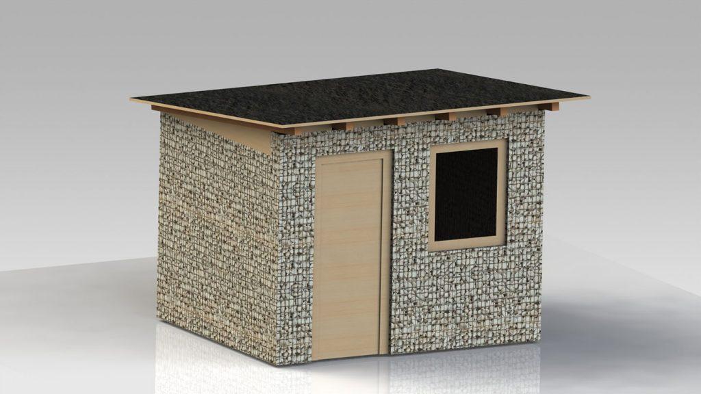 Casetta in acciaio e pietra
