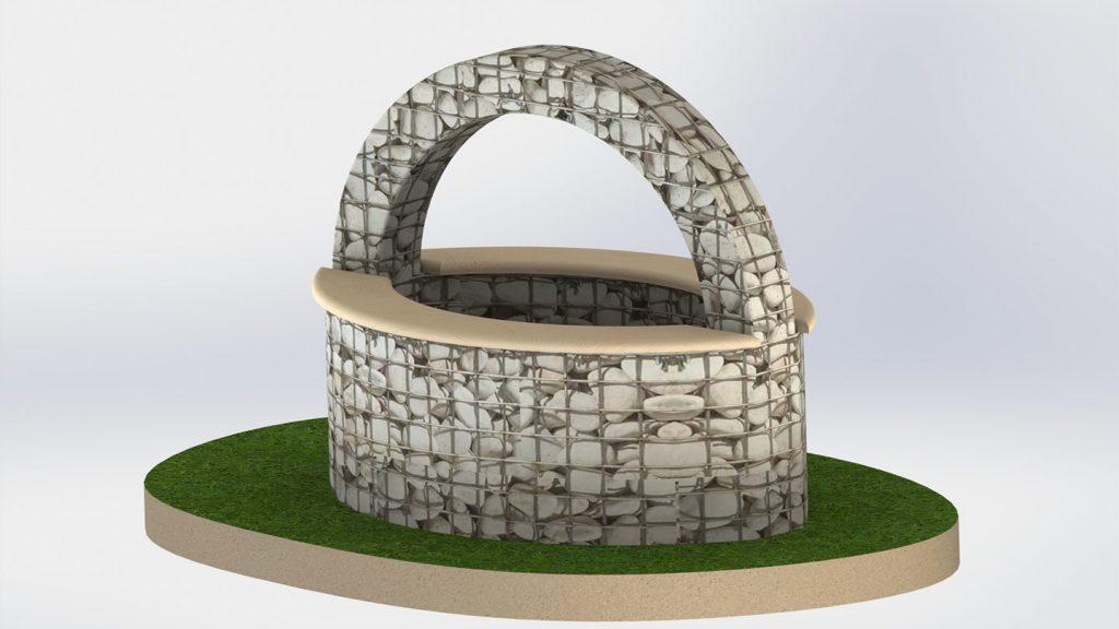 Fontana con arco
