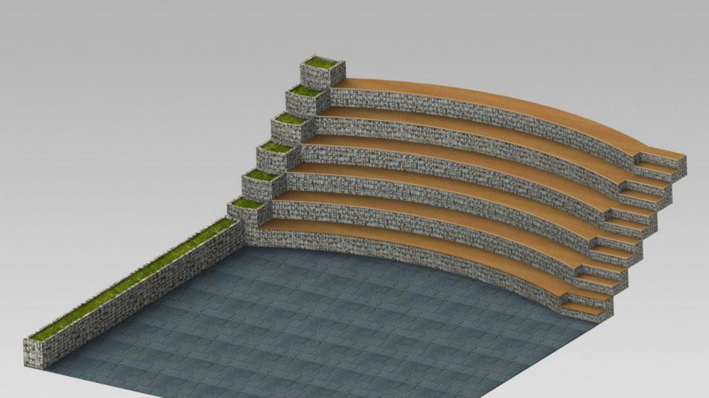 Gradinate curve