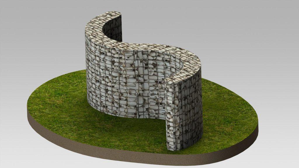 Muro a doppia curva