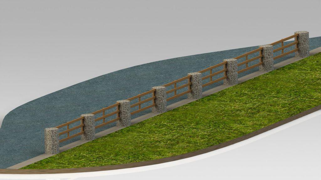 Recinzione tonda con steccato