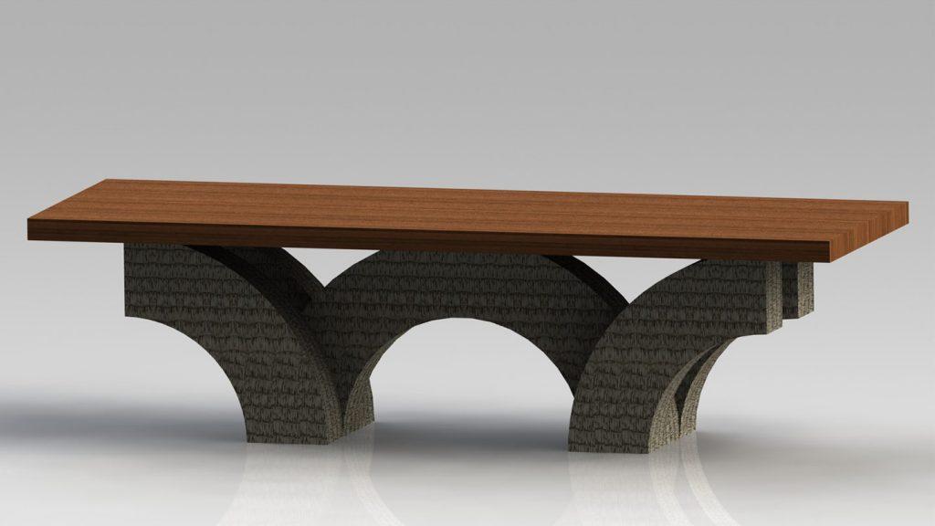Tavolo con archi