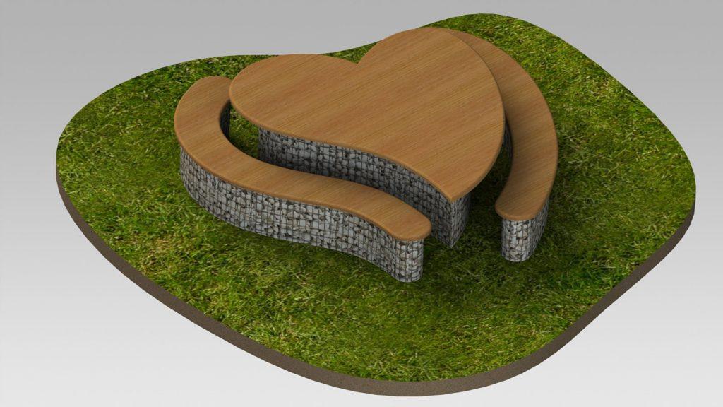 Tavolo a forma di cuore