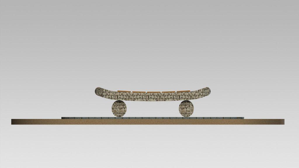 Disegno panchina skateboard