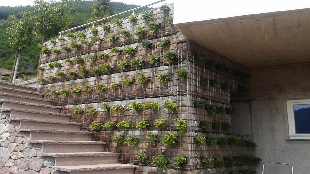 Rivestimento con verde verticale